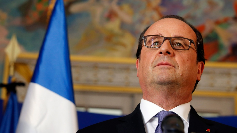 French President Francois Hollande in Nice