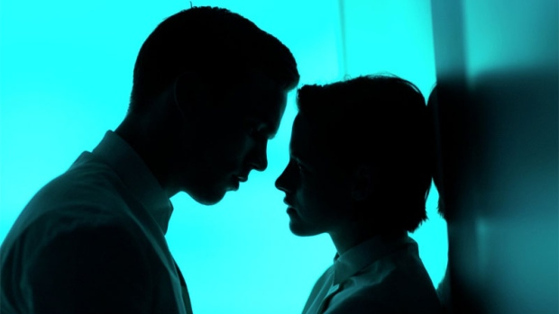 Nicholas Hoult and Kristen Stewart in Equals