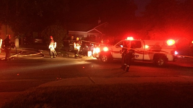 Fire crews rushed to a house fire on Lyon Street around 10 p.m. Friday night.