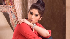 Pakistani model Qandeel Baloch is pictured in this image from her Twitter account. (@QandeelQuebee /Twitter)