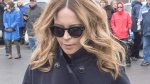 Julie Snyder arrives for funeral services for Daniel Dion in Charlemagne, Que., in a January 25, 2016, file photo. (Ryan Remiorz, File/The Canadian Press)