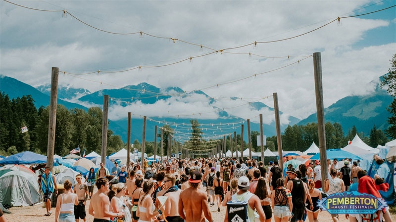 The campground at the Pemberton Music Festival. (Facebook/Pemberton Fest)