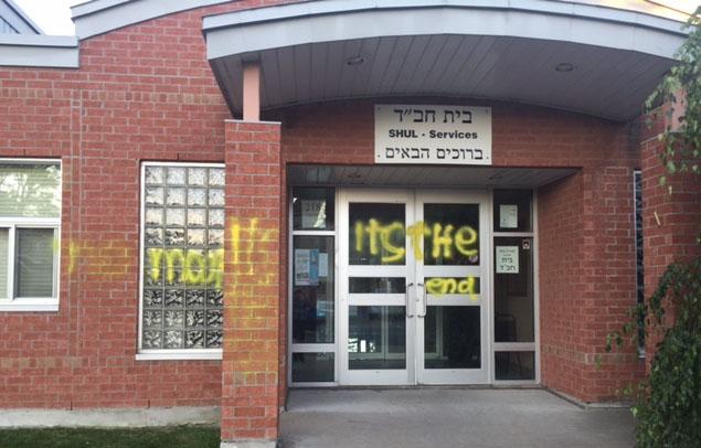 Jewish centre vandalized