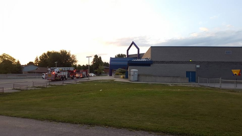 Arson at Wilfrid Jury PS in London Ont. on July 19, 2016. (Justin Zadorsky/CTV)
