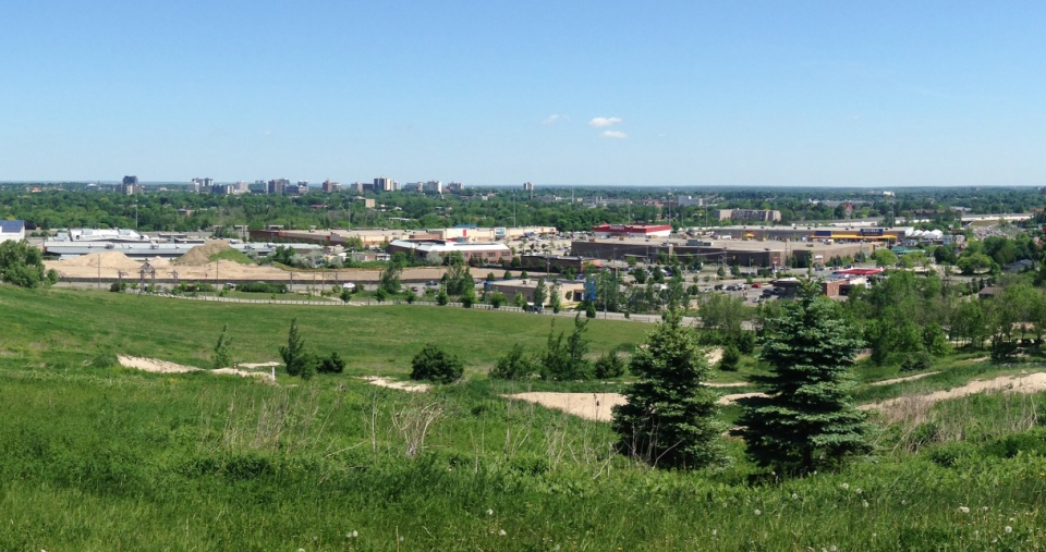 A view of Kitchener is seen from McLennan Park on Tuesday, May 31, 2016. (Kevin Doerr / CTV Kitchener)