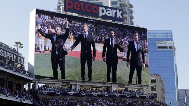 The Tenors perform at the MLB All-Star Game