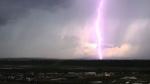 Lighting lights up the sky over Calgary. (MyNews Photo: Kenzie Vollrath – Calgary)