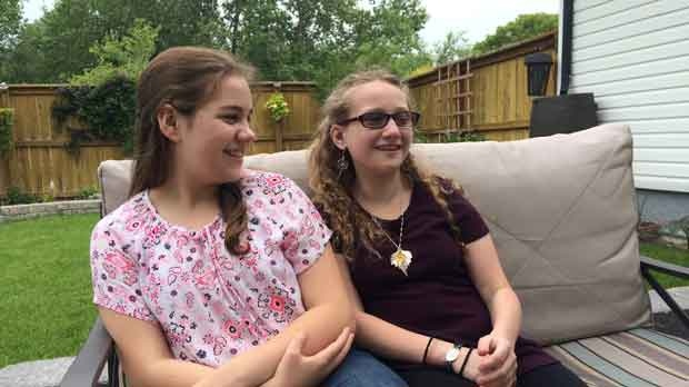 Callysta (right) and Piper (left) are twin sisters.