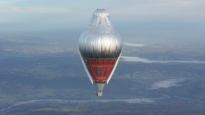 Russian adventurer Fedor Konyukhov floats at more than 6,000 metres above an area close to Northam in Western Australia state in his helium and hot-air balloon as he makes a record attempt to fly solo in a balloon around the world on Tuesday, July 12, 2016. (Oscar Konyukhov / Morton)