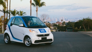 A car2go Vehicle in San Diego, one of the cities included in the three-year study. (car2go LLC)