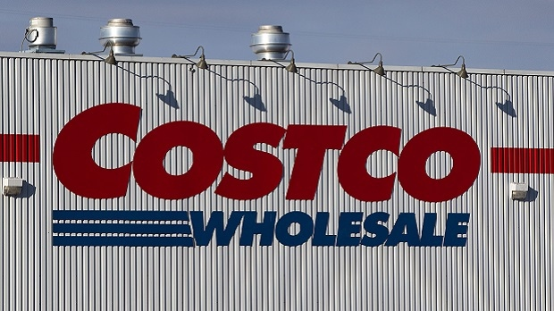 The sign outside of a Costco wholesale store. (THE CANADIAN PRESS IMAGES/Lars Hagberg)