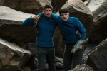 "In this image released by Paramount Pictures, Karl Urban portrays Bones, left, and Zachary Quinto portrays Spock in a scene from ""Star Trek Beyond."" (Kimberley French/Paramount Pictures via AP)"