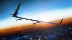 "Facebook's ""Aquila"" solar-powered drone is pictured in this undated photo. (Facebook)"