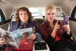 In this image released by Fox Searchlight Pictures, Jennifer Saunders, left, and Joanna Lumley appears in a scene from the film, 'Absolutely Fabulous: The Movie.' (David Appleby)