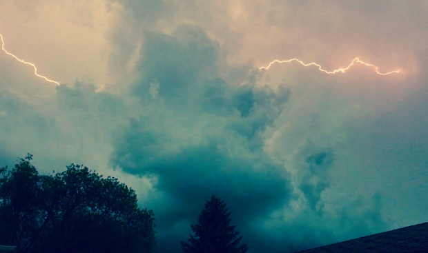 CTV Winnipeg viewers send in photos of a storm that swept through Manitoba on Wednesday evening. Photo by Paulo Mendes.