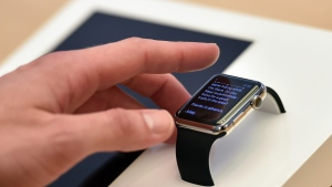 Apple remained the smartwatch market leader in the second quarter with an estimated 47 per cent market share, but sales fell by more than half from the same period last year to 1.6 million, according to IDC. (AFP PHOTO / Peter PARKS)