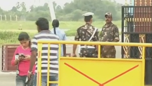 The entrance to the Tambaram Airbase is seen after the Indian air force lost contact with a transport plane carrying 29 people to islands in the Bay of Bengal, the defence ministry said on Friday, July 22, 2016.