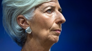 International Monetary Fund chief Christine Lagarde on Oct. 8, 2015. (Rodrigo Abd / AP)