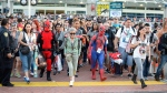 Fans at Comic-Con International in San Diego on July 21, 2016. (Photo by Denis Poroy/Invision/AP)