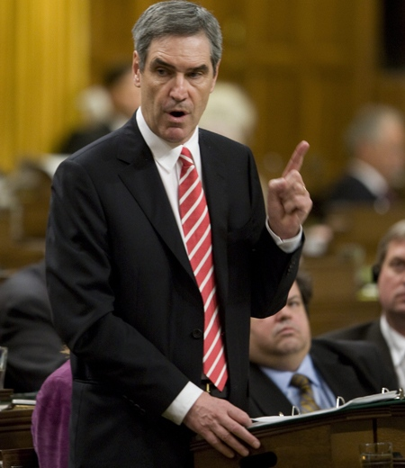 Liberal Leader Michael Ignatieff begins debate on the federal budget in the House of Commons on Parliament Hill in Ottawa, on Wednesday, Jan. 28, 2009. (Adrian Wyld / THE CANADIAN PRESS)