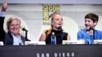 Conleth Hill, from left, Sophie Turner and Iwan Rheon attend the 'Game of Thrones' panel on day 2 of Comic-Con International on Friday, July 22, 2016, in San Diego. (Photo by Chris Pizzello / Invision / AP)
