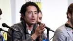 "Steven Yeun speaks during the ""The Walking Dead"" panel on day 2 of Comic-Con International on Friday, July 22, 2016, in San Diego. (Photo by Chris Pizzello/Invision/AP)"