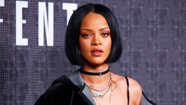 In this Feb. 12, 2016 file photo, Rihanna attends the JFENTY PUMA by Rihanna fashion show in New York. (Photo by Andy Kropa/Invision/AP, File)