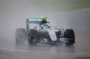 Mercedes driver Nico Rosberg, of Germany, steers his car during the qualifying session for Sunday's Formula One Hungary Grand Prix, at the Hungaroring racetrack, in Budapest, Hungary, Saturday, July 23, 2016. (AP / Darko Vojinovic)