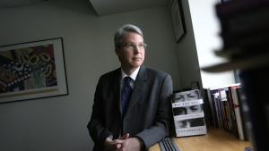 "Dr. Peter Langman, clinical director at Kids Peace Hospital and author of a new book entitled ""Why Kids Kill: Inside the Minds of School Shooters,"" poses at his office in Orefield, Pa., Feb. 2, 2009. (Rick Smith/AP Photo)"