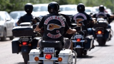 Eight men and one woman, all from New Brunswick, appeared in Bathurst Provincial Court Wednesday on a slew of drug trafficking charges linked to the Hells Angels in Quebec.