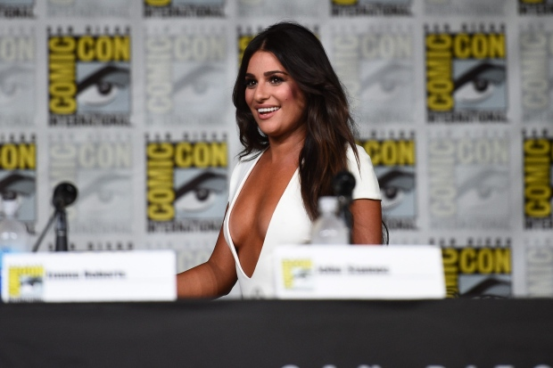 """Lea Michele attends the """"Scream Queens"""" panel on Day 2 of International Comic Con on Friday, July 22, 2016 in San Diego. (Photo by Al Powers / Powers Imagery / Invision / AP)"""