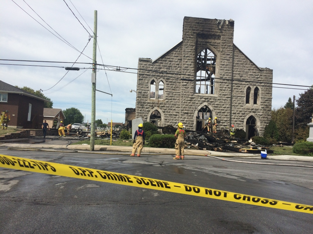 St. Isidore church destroyed by fire