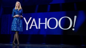 Yahoo president and CEO Marissa Mayer at the International Consumer Electronics Show in Las Vegas, on Jan. 7, 2014. (Julie Jacobson / AP)