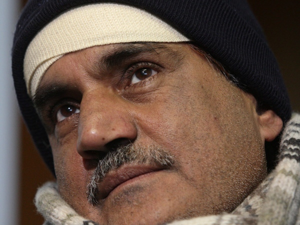 Firoz Khan, who was allegedly beaten by three off-duty police officers while delivering newspapers in Vancouver last week pauses as he speaks with the media at his home in Surrey, B.C., on Tuesday January 27, 2009. (THE CANADIAN PRESS/Darryl Dyck)