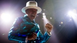 Frontman of the Tragically Hip, Gord Downie, leads the band through a concert in Vancouver, Sunday, July, 24, 2016. (THE CANADIAN PRESS/Jonathan Hayward)