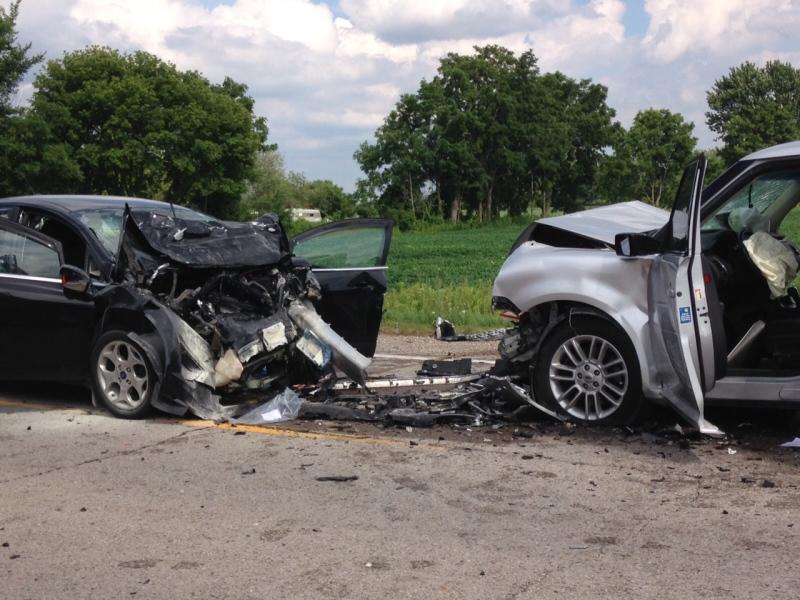 Fatal crash on Glendon Dr. outside of London Ont. on  July 25, 2016. (Jim Knight/CTV)