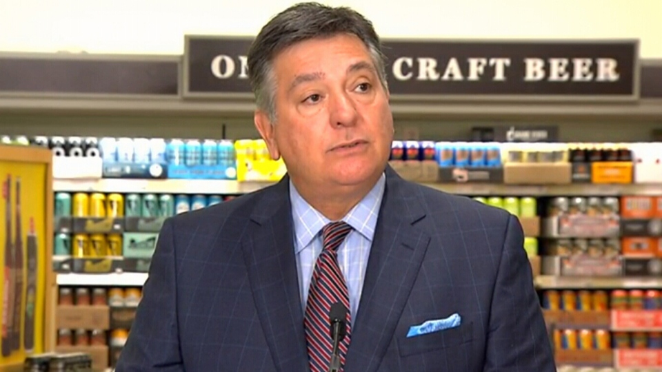 Ontario Finance Minister Charles Sousa makes an announcement about LCBO retail development, Tuesday, July 26, 2016.