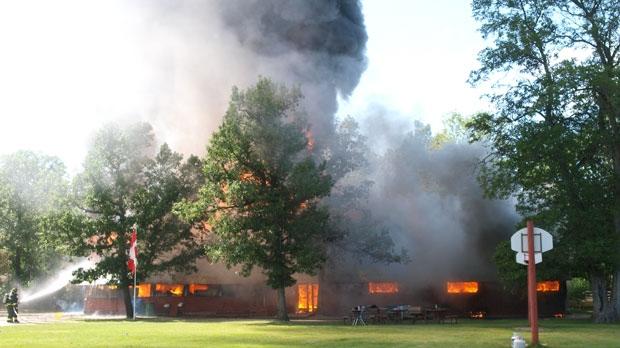 Intense Blaze Levels Bible Camp Lodge Near Dauphin Ctv