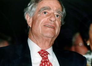 This 1996 file photo shows Dr. Luc Hoffmann, a Swiss-born ornithologist and environmentalist. (Keystone via AP)