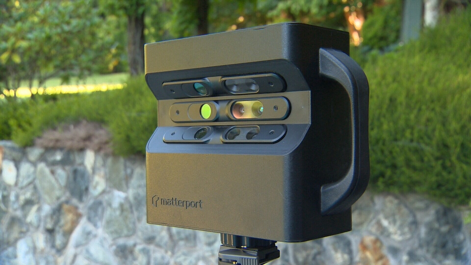 A Matterport 3-D camera is shown Tuesday, July 26, 2016. (CTV Vancouver Island)