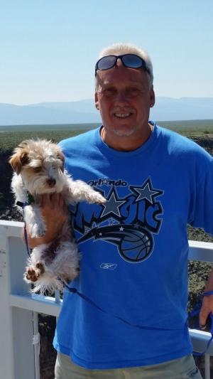 This June 2015 photo provided by Linda Bilyeu shows her ex-husband Randy Bilyeu during a visit to northern New Mexico. (Courtesy of Linda Bilyeu via AP)