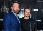 In this Aug. 10, 2015 file photo, Ben Affleck, left, and Matt Damon attend the 'Project Greenlight' premiere of 'The Leisure Class' in Los Angeles. (Photo by Paul A. Hebert/Invision/AP, File)