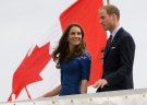 Prince William and Kate, the Duke and Duchess of Cambridge, leave the HMCS Montreal as they arrive in Quebec City, Sunday July 3, 2011. (AP Photo/The Canadian Press, Adrian Wyld)
