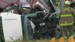 mono, crash, cattle tractor trailer