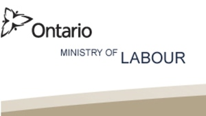 The logo for Ontario's Ministry of Labour is pictured.