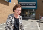 Public Services Minister Judy Foote leaves after speaking to the media in Miramichi, N.B., on Wednesday, July 27, 2016. . THE CANADIAN PRESS/Ron Ward