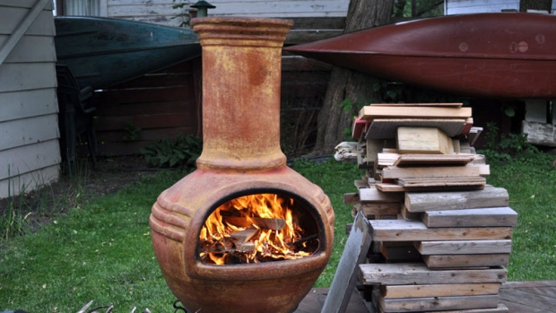 Backyard chiminea