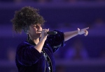 Singer Alicia Keys performs on the second day of the Democratic National Convention in Philadelphia , Tuesday, July 26, 2016. (AP Photo/Mark J. Terrill)