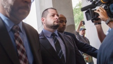 James Forcillo arrives at court in Toronto