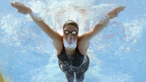 Zimbabwe's Kirsty Coventry at the FINA Swimming World Championships in Rome, on July 26, 2009. (Mark J. Terrill / AP)